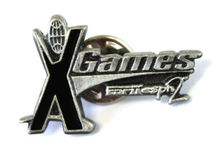 High quality X GAMES Pewter Metal and Black Enamel Pin Lapel Hat Jacket    FH680017 цена