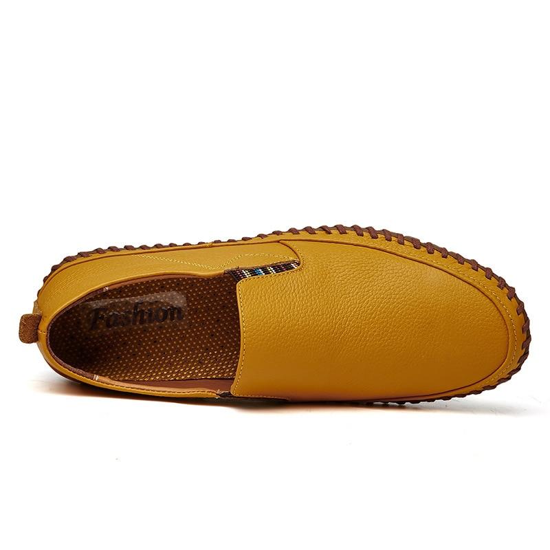 Chaussures Robe on Pu jaune Hommes Marque En Designer Noir Size Mocassins Cuir marron blanc De Luxe Occasionnels Plus Mode Slip Homme Adulte xftn6