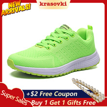 Krasovki Women Sneakers Casual Shoes Platform Lace Up Breathable Summer Spring Autumn Vulcanized Comfortable Air Cushion