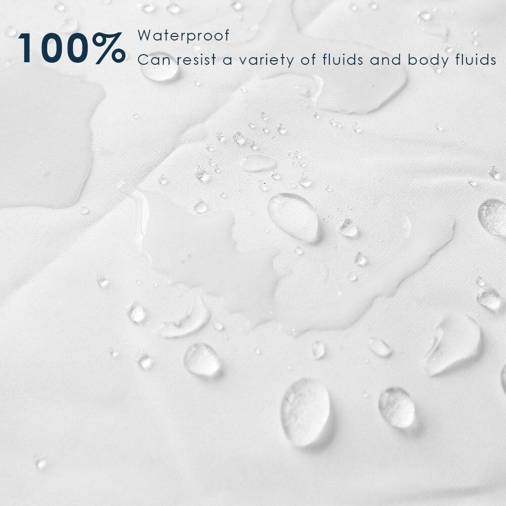 LFH gładki materac wodoodporny ochraniacz Cool Touch wodoodporny roztocza narzuta na materac można prać w pralce