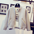 2016 New Spring Autumn Short Design Knitted Sweater Cardigan Women Outerwear Female Zipper Knitwear Tops Sueter Mujer LH132