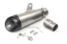 MGOD-Universal Inlet 51MM 61MM  Motorcycle Exhaust Pipe Muffler Stainless Steel SC Laser Marking Fit For Most Motorbike