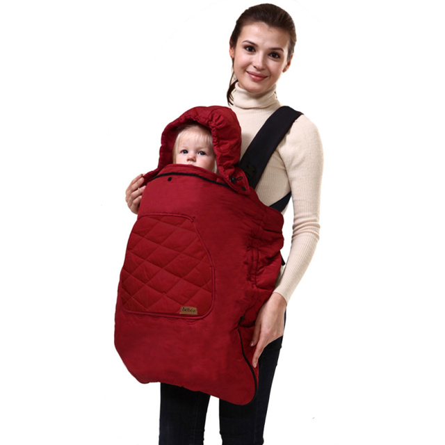 Winter Baby Backpack Carrier Cover Cloak Warm Cover Carrier Cover Baby Polar Cover For Baby