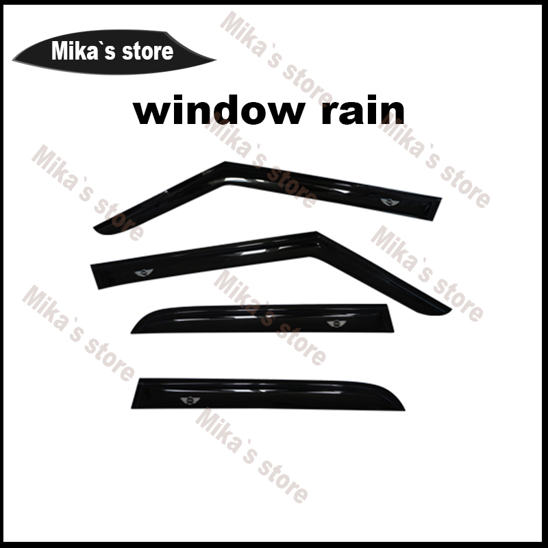 New 4pcs Window Rain Guard Acrylic window Eyebrow Only for MINI COOPER F60 countryman car-styling outdoor decoration accessories 4pcs set smoke sun rain visor vent window deflector shield guard shade for cadillac xt5 2016 2017