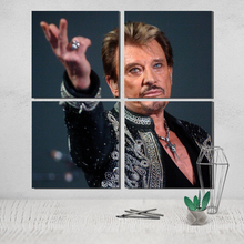 Johnny Hallyday Canvas Poster Photo Picture Wall Pictures for Living Room Posters Paintings on The Wall Tableau Decoration Salon