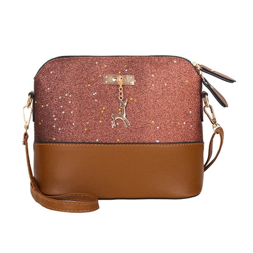 s Women Messenger Bags Flab Luxury Crossbody Bling Sequins Women Shoulder Bag Deer Female Handbag #410