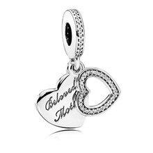 2016 Día de la Madre Colección Encantos del corazón cupieron las pulseras collar DIY Querida Madre colgante de Plata Esterlina joyería fina