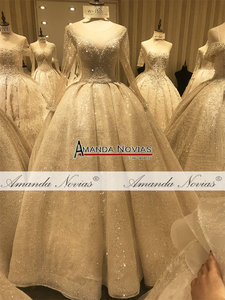 Image 2 - Роскошное Свадебное Платье amanda novias, реальная работа 100%, высококачественное свадебное платье