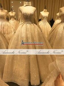 Image 2 - יוקרה חתונה שמלת אמנדה novias עבודה אמיתית 100% באיכות גבוהה שמלת כלה