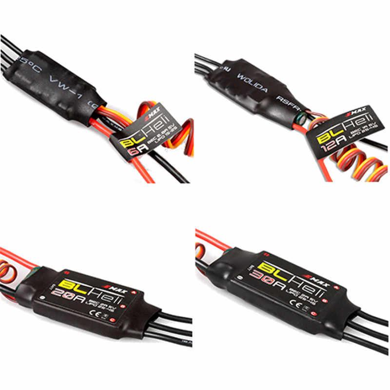 EMAX BLHeli serie 6A 12A 20A 30A Emax ESC para RC juguete para RC Quadcopter piezas de repuesto incorporado lineal BEC o cambiar BEC ACC