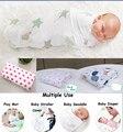 Multifuncional 100% Algodão Macio Toalha de Banho Do Bebê Recém-nascido de Musselina Swaddle Cobertores Projetos Multi Funções Do Bebê Embrulhe