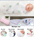 Multifunctional Muslin Cotton 100% Soft Newborn Baby Bath Towel Swaddle Blankets Multi Designs Functions Baby Wrap