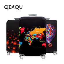 QIAQU World Map Elastic Thick Luggage Cover for Trunk Case Apply to 18''-32'' Suitcase Protective Cover Travel Accessories(China)