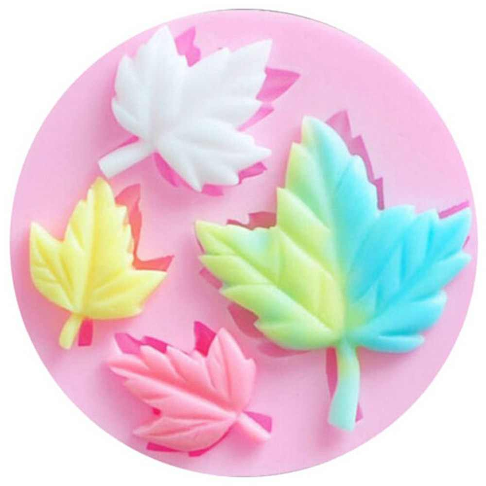 Maple Leaf 3D Silicone Mold Chocolate Candy Fondant Cake Decorating Tools Cupcake Soap Candle Gum Paste Molds Kitchen Bakeware