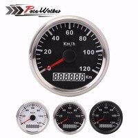 85mm Digital Speedometer 120Kmh Speedometer LCD Counter Motorcycle Accessories Bicycle 12v 24v IP67 Waterproof DIY Odometer