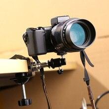 1/4 Parafuso de Tripé para Flash Hot Shoe Mount Adapter Para DSLR câmera de Estúdio do Flash Hot Shoe Hotshoe Spring Clamp Clipe Bola de Cabeça CD50