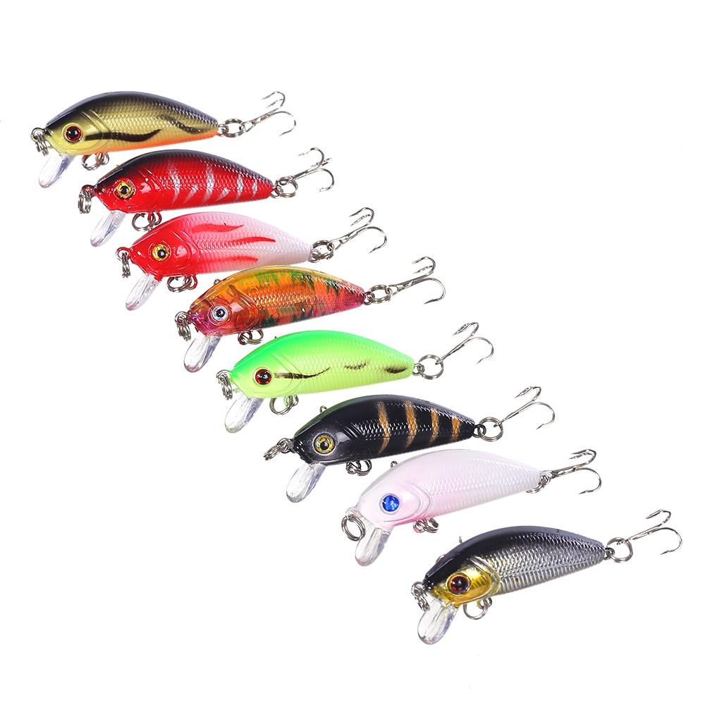 80pcs Lot fishing bait Classic Design Minnow Fishing Lures 8 colors 5CM 3 6G Fishing Tackle