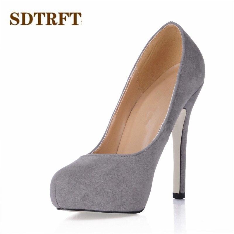 42 Sdtrft Dames Modisch Mariage Noir Zapatos Femme Mujer Stiletto Plus35 43 Chaussures Mince Talons Rouge De 11 Crossdresser rouge En Daim Pompes gris Cm 0w8OXnPk