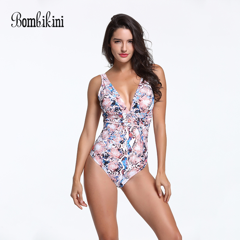 Bodysuit Plus Size Swimwear Women Printed One Piece Swimsuit Push Up Monokini Backless Bathing Suit Front Fold Swim Wear floral two piece swimsuit women swimwear green leaf bodysuit beach bathing suit swim swimsuit push up monokini bathing wear 2017