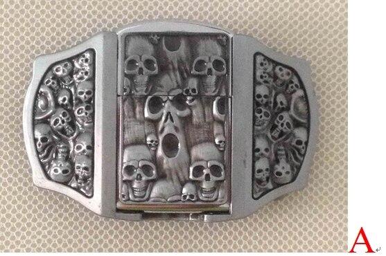 3D cinturón hebilla con queroseno más ligero con acabado de peltre SW-P03 marca nueva condición con stock continuo