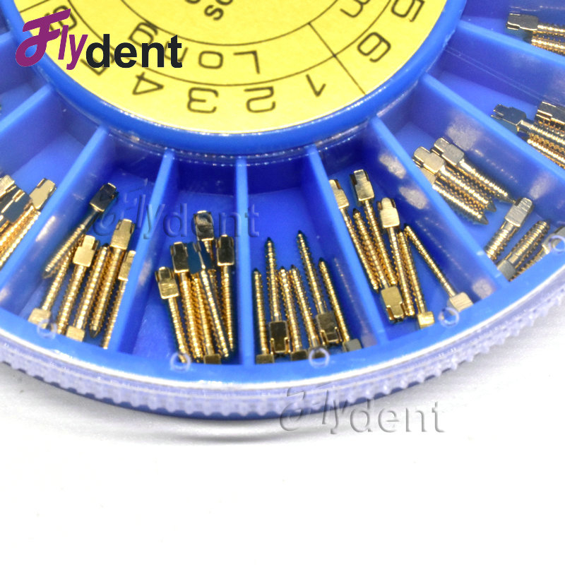 Gigi STAINLESS STEEL Screw Post 120pcs & 2Key Dental Screw Post - Kebersihan mulut - Foto 6