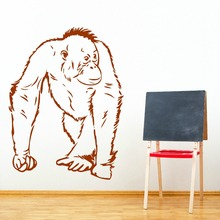 Hot Animal Orangutang Camina Vinilo adhesivo mural Removable Vinyl Art Wall Sticker orangutan Monkey Decal M-177
