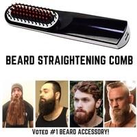 Wireless Men Quick Beard Straightener Styler Comb LCD Multifunctional Cordless USB Hair Straightening Brush Quick Styling Tools