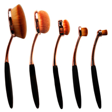 5 Piece Oval Brush Rose Gold Makeup Brushes Powder Makeup Brush Set Oval Makeup Brush Cosmetic Foundation Cream Powder #85847