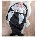 Tiburón bebé Saco de dormir Saco de dormir de Invierno Recién Nacidos Cochecitos Cama Manta Swaddle Wrap Sleepsacks Lindo ropa de Cama de algodón suave