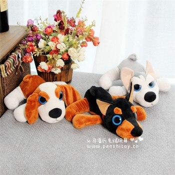 free shipping cartoon big eyes soft prone dog 27cm husky,Rottweiler,long ears dog plush toy,high quality Christmas gift h346 rottweiler