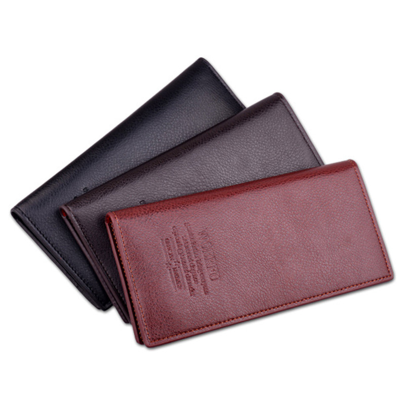 Fashion Genuine Leather Long Wallets Men Coin Purses Card Holder Money Bags Clutch Multifunction Male Luxury Wallet Portfolio 2016 famous brand new men business brown black clutch wallets bags male real leather high capacity long wallet purses handy bags