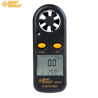 Smart Sensor AR816 Wind Speed Gauge Electronic Anemometer Thermometer High Quality Speed Measuring Instrument