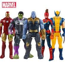 30 cm Marvel vengadores juguetes Thanos Hulk Spiderman Iron Man Capitán América Thor Wolverine Black Panther figura de acción muñecas