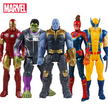 30 Cm Marvel Avengers Mainan Thanos Hulk Buster Spiderman Iron Man Captain America Thor Wolverine Black Panther Action Figure Boneka(China)