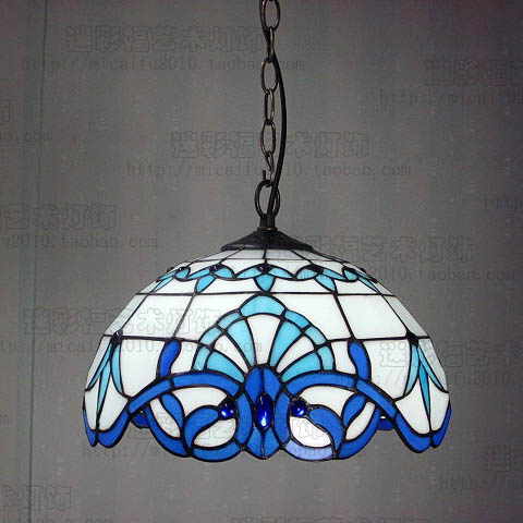 Tiffany Baroque Stained Glass Pendant Lights Suspended Luminaire E27 110-240V Dining Room Hanging Light
