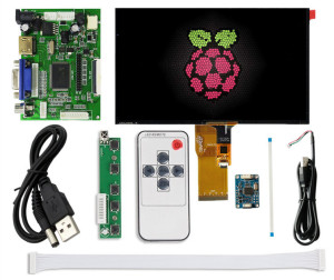 "HD Touch screen 10.1"" monitor 1920*1200 LCD with BNC/AV/VGA/HDMI/USB/Speaker industrial Capacitive LCD display for raspberry pi(China)"
