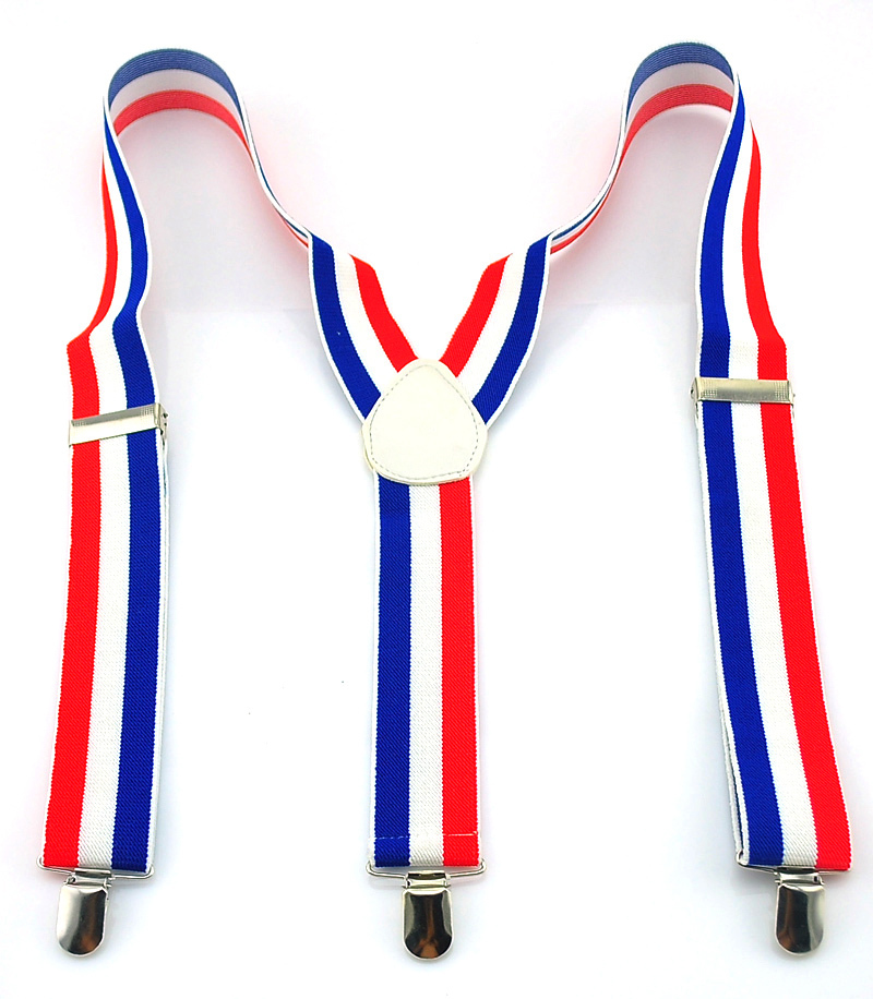 New 3.5cm Wide 5 Stripes Suspenders Men Men's Unisex Clip-on Braces Elastic Suspensorio Fashion