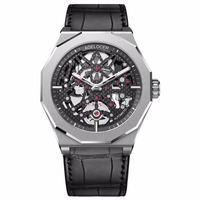 Agelocer Skeleton Diver Watches for Men Genuine Leather Strap Luminous Automatic Watches Power Reserve Sport Watches 6001A1
