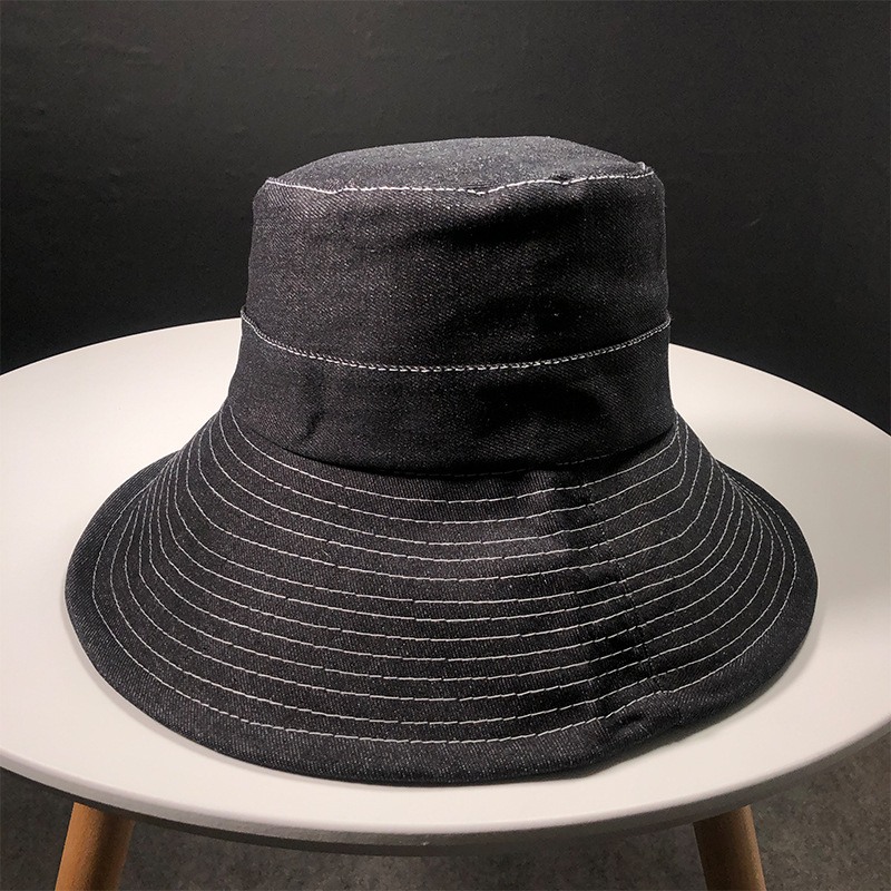 1004c34c6b4 Aliexpress.com   Buy Fashion personality female ribbon basin cap Autumn and winter  new flat top big brim bucket hats from Reliable Bucket Hats suppliers on ...