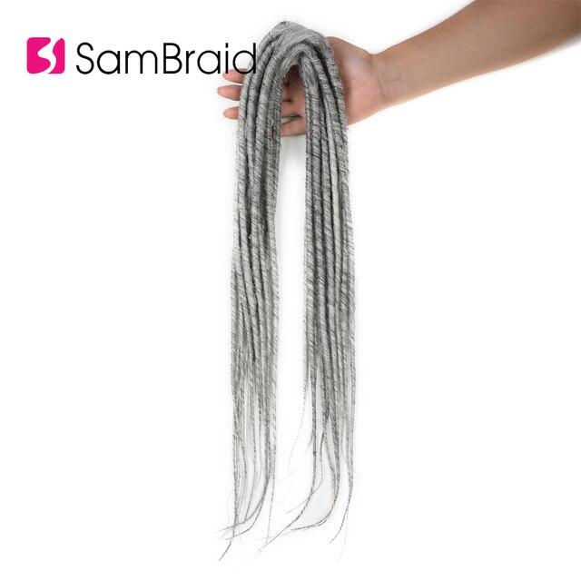 Sambraid New Dreadlocks corchet  braiding hair Dreads Crochet synthetic Braiding hair extension 20 inch faux locks for women