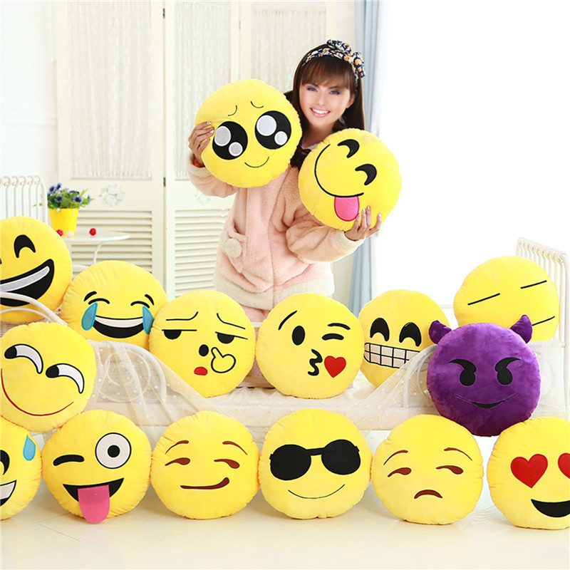 Emoji Pillow Sofa Emotion-Cushion Stuffed Smiley Plush-Toy Car-Seat Hot For QQ