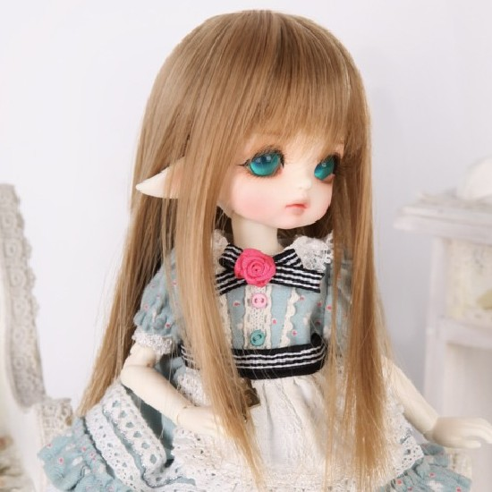 doll accessories 1/8 Bjd wig doll hair wig little demon y lati long straight wig bangs cute girl baby hair- ga07