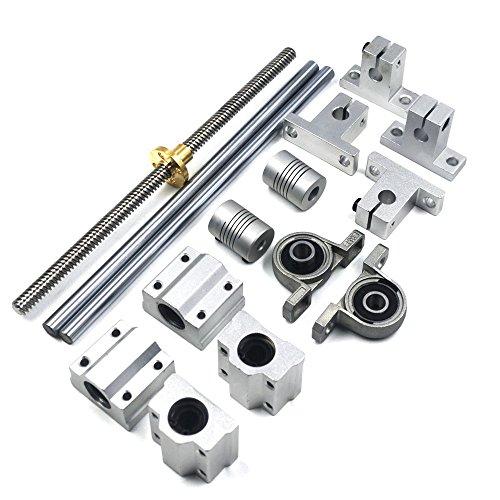 200mm Horizontal Optical Axis & 8mm Lead Screw Rail Shaft Support Pillow Block Bearings & Flexible Shaft Coupler stylish hope letter printed horizontal block pillow case