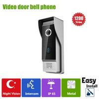 YSECU Video Door Phone IR Camera Doorbell 1200TVL 110 Degree Wide Angle Waterproof Metal IP65 High