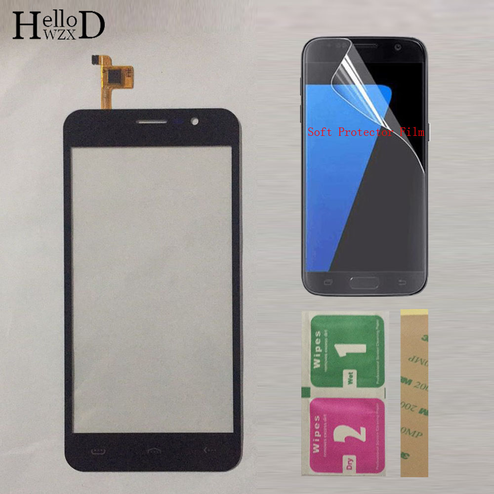 Mobile Touch Screen Glass For Homtom HT16 HT16 Pro Touch Screen TouchScreen Digitizer Touch Panel Sensor Glass + Protector Film