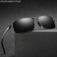 f2355516ed3 Men Polarized Sunglasses Square Classic Men Shades Sun glasses Brand  Designer Alloy Frame Mirror Color Film