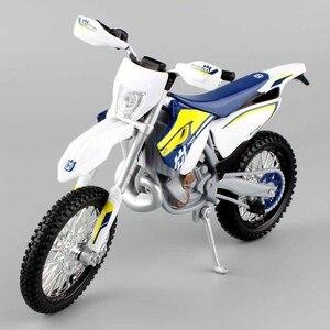 Image 4 - Maisto 1/12 2015 KTM אופנוע בקנה מידה HUSABERG FE 501 Husqvarna FE501 אופני עפר מוטוקרוס Diecast & כלי רכב מתכת רכב דגם צעצוע