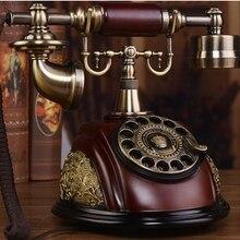Moda vintage teléfono antiguo moda de hogar equipado disco giratorio americano dial teléfono