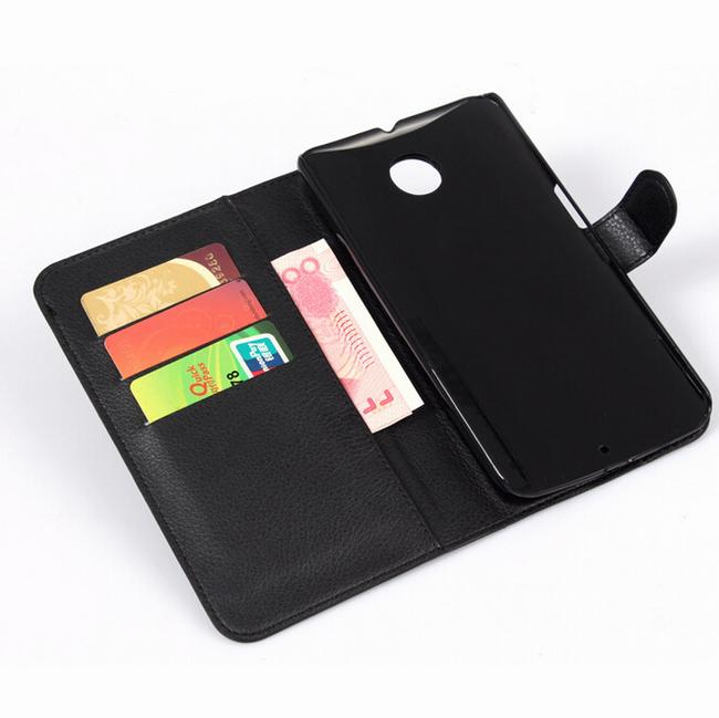 For Google nexus 6 case cover ,New 2014 fashion luxury filp Lychee leather wallet stand Google nexus 6 phone case cover 1pcs/lot