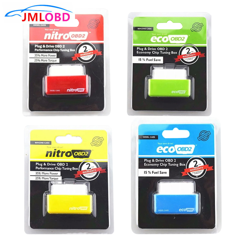 Super ECO NitroOBD2 Gasoline Benzine Cars Chip Tuning Box More Power Torque Nitro OBD Plug & Drive Nitro OBD2 OBD 2 Cars Diesel